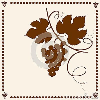 Grape vine silhouette.