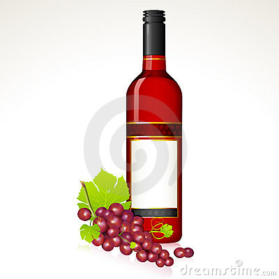 Grape with Wine Bottle