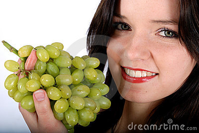 Grape and woman