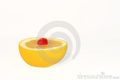 Grapefruit and Cherry Dessert