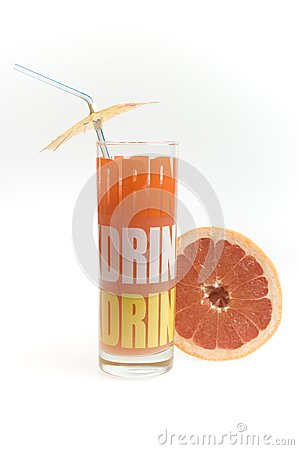 Grapefruit juice in the glass
