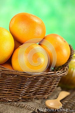 Grapefruits in Basket