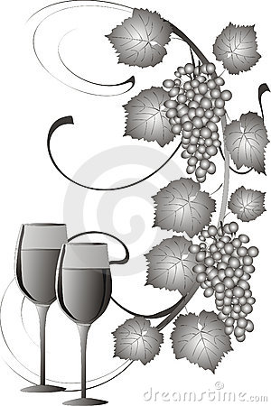 Free Grapes And Wine Stock Image - 2805221