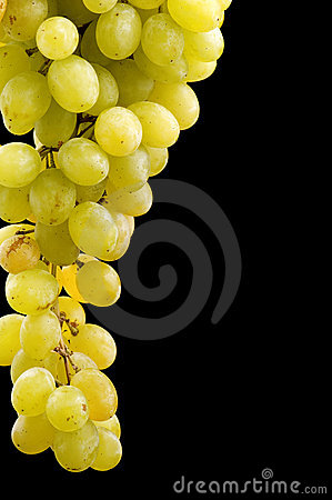 Grapes on black