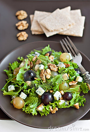 Grapes and cheese salad