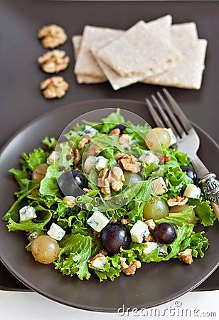 Grapes and cheese salad