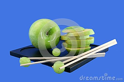Grapes and the Chinese rods