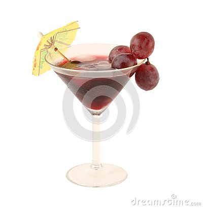 Grapes Cocktail isolated on white background