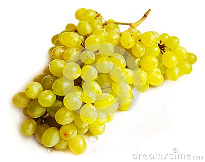 Grapes with drops of water