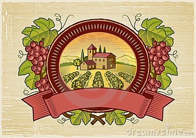 Grapes harvest label