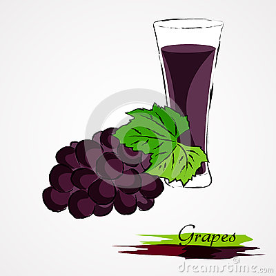 Free Grapes Juice Royalty Free Stock Photography - 57657857