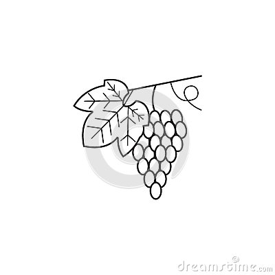 Free Grapes Line Icon, Healthy Fruit, Vector Graphics, Royalty Free Stock Images - 94448679