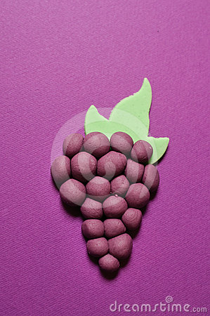 Grapes made from sugar paste