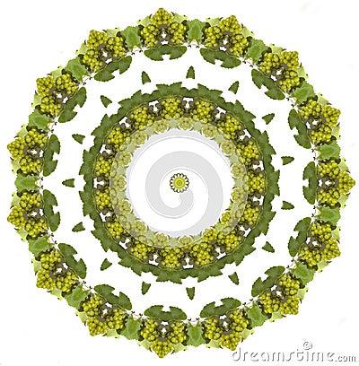 Free Grapes Mandala Stock Images - 283994