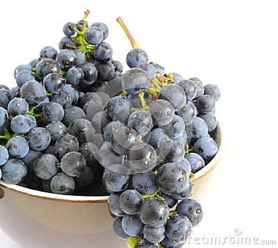 Grapes over white