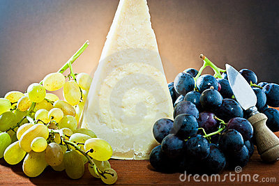 Grapes and Parmesan cheese