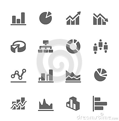 Free Graph And Diagram Icon Set. Royalty Free Stock Photo - 32323255