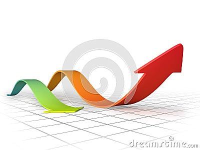 Graph arrows swirl