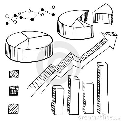 Royalty Free Stock Photography Graph Chart Elements Sketch Image22595837