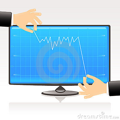 Graph on computer screen