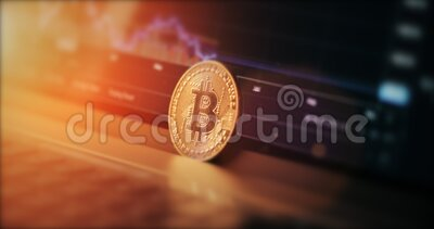 Graph of cryptocurrency exchange rate. Bitcoin is a new currency economy. The world crisis. Soft focus stock footage