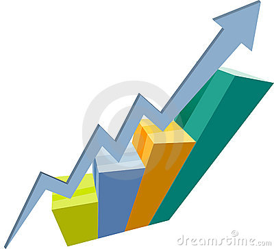 Free Graph Of Success Royalty Free Stock Photos - 915878