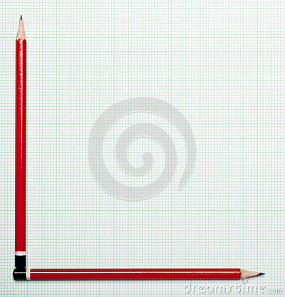 Graph paper with pencil axis