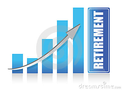 Graph to retirement illustration design