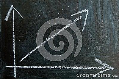 Graph written in chalk on a blackboard
