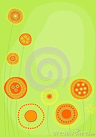Graphic citrine flowers