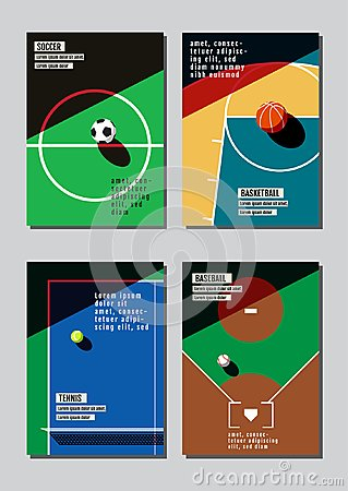 Free Graphic Design Sport Concept. Sports Equipment Background. Vecto Stock Images - 119681884