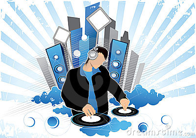 Graphic of disc jockey