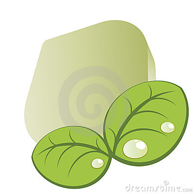 Graphic of green leaves