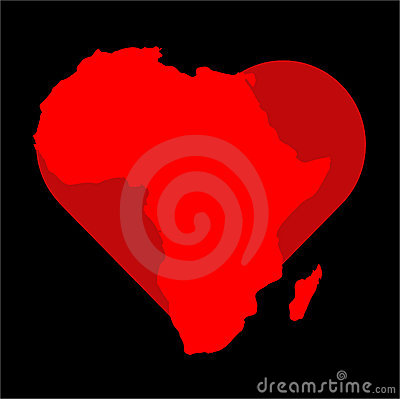 Graphic of heart and Africa