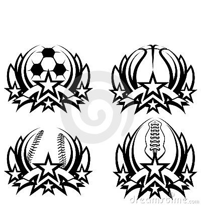 Graphic Icons Soccer Basketball Baseball Football