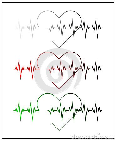 Free Graphic Illustration Of Cardiogram Or Cardiograph. Electrocardiogram In Black And White, Red And Green. Heart Rate. EKG Or ECG Tes Royalty Free Stock Images - 78563739