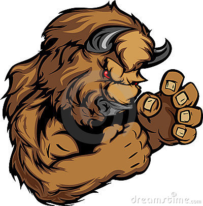 Free Graphic Image Of A Bison Or Buffalo Mascot Stock Images - 21979184