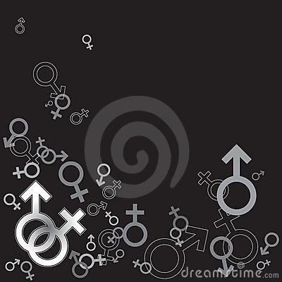 Graphic Male And Female Symbol / Sign