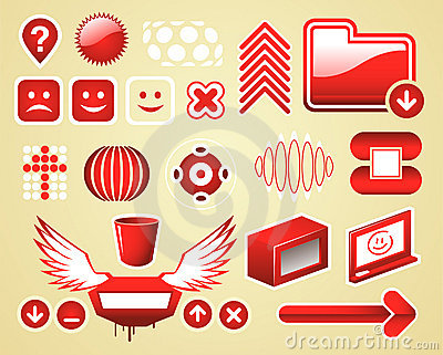 A graphic objects set