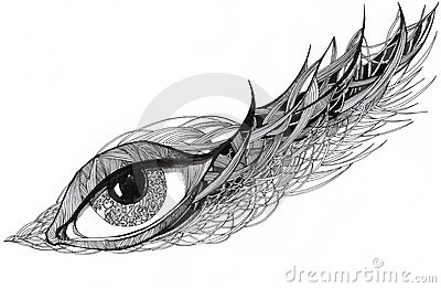 Graphic ornate eye