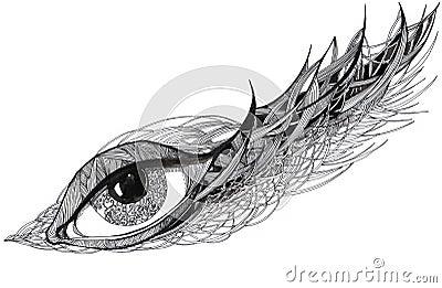 Graphic ornate eye