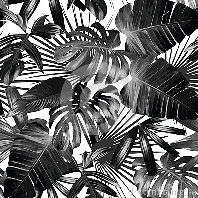 Free Graphic Palm Leaves Seamless Background Stock Photos - 73887193