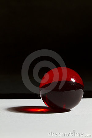 Graphic Red Marble