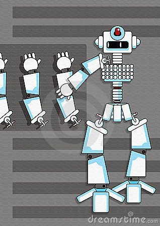 Graphic robot self assembly