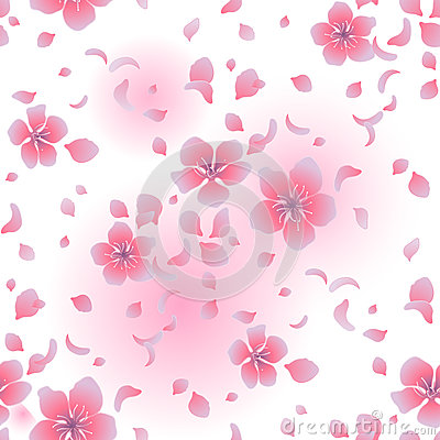 Graphic sakura pattern Vector Illustration