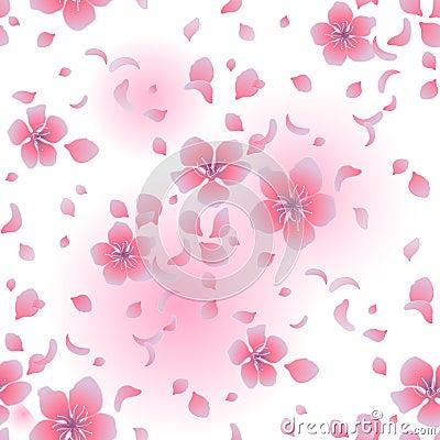 Graphic sakura pattern Vector Illustration