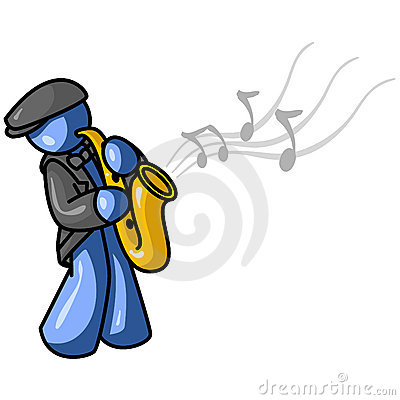 Graphic of saxophone player