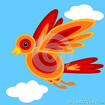 Graphic shape bird