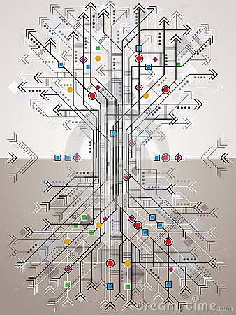 Graphic stylized tree.