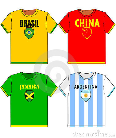 Graphic t shirts with national